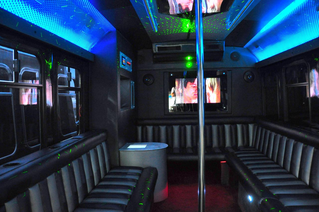 Los angeles party bus stripper pole